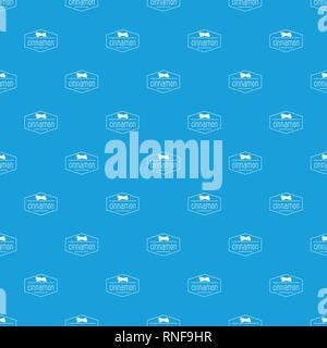 Motif bleu transparent vecteur cannelle Banque D'Images