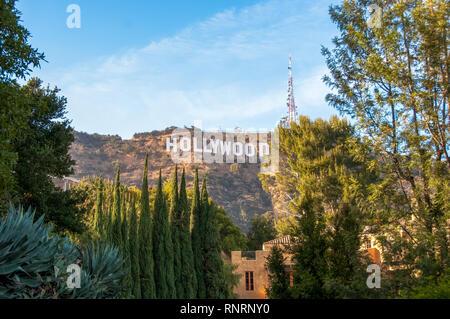 Célèbre panneau Hollywood de Los Angeles, Californie. Banque D'Images