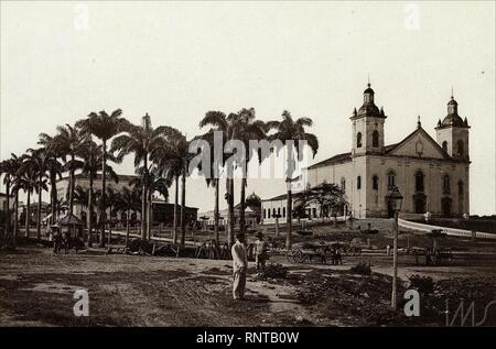 Catedral Metropolitana de São Paulo - 1890. Banque D'Images