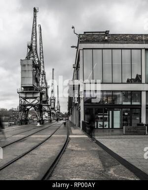 SWINDON, Royaume-Uni - 16 février 2019: Le musée de l'abri M Bristol La vie à Wapping Whalf, Bristol, Royaume-Uni Banque D'Images