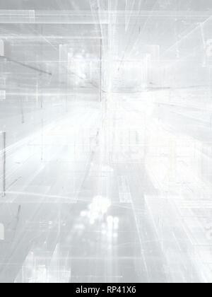 La technologie blanc ou de l'entreprise Contexte - abstract illustration par ordinateur. La technologie ou toile de sci-fi avec des lignes droites comme les rayures d'un Banque D'Images