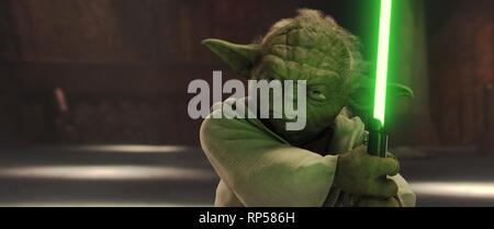 YODA, Star Wars: Episode II - L'ATTAQUE DES CLONES, 2002 Banque D'Images