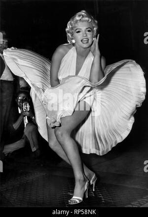 MARILYN MONROE, LES SEPT ANS DÉMANGENT, 1955 Banque D'Images