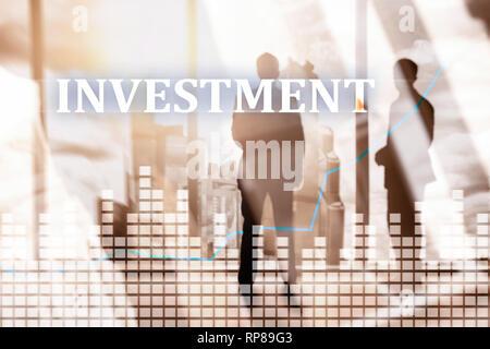 L'investissement, des marchés financiers d'entreprise concept DE RETOUR SUR INVESTISSEMENT. Banque D'Images