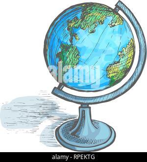 Globe sur support vector Banque D'Images