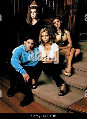 BRENDON,HANNIGAN,GELLAR,CARPENTER, Buffy Contre Les Vampires: Saison 2, 1997 Banque D'Images