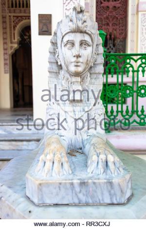 Statue en marbre blanc décoration de l'entrée de la 'Palacio de Valle' (Anglais: Valle Palace). L'endroit est un monument national et au tourisme Banque D'Images