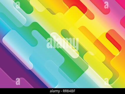 Tech colorés rétro arrière-plan géométrique abstraite. Graphique de vecteur contexte moderne Banque D'Images