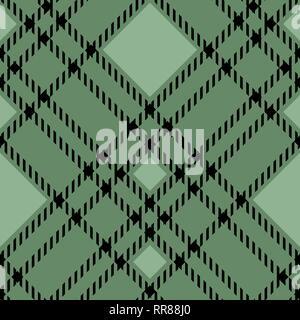 Pixel Vert Tissu à Carreaux Modèle Homogène Vector