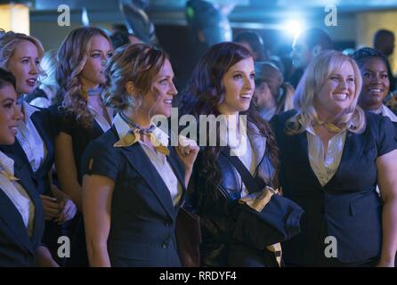 ANNA CAMP, BRITTANY SNOW, ANNA KENDRICK, REBEL WILSON, PITCH PERFECT 3, 2017