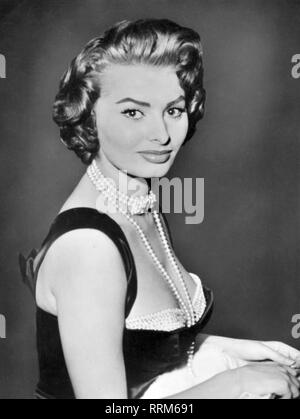 Sophia Loren, 20.9.1934, *, l'actrice italienne, portrait, 1950 Additional-Rights Clearance-Info-Not-Available- Banque D'Images