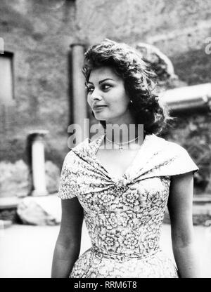 Sophia Loren, 20.9.1934, *, l'actrice italienne, demi-longueur, 1950 Additional-Rights Clearance-Info-Not-Available- Banque D'Images