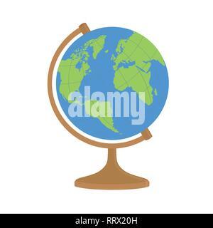 World globe sur un support vector illustration. Banque D'Images