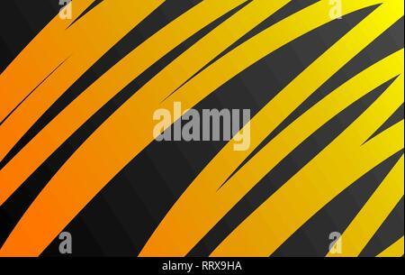 Vector background orange orange foncé sur les lignes courbes se chevauchent l'espace graphique de la couche de message texte art moderne design. Banque D'Images