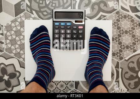 Calcul du poids idéal concept Banque D'Images