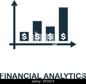 L'icône de l'analyse financière. L'élément de conception créative technologie collection icônes fintech. Parfaite de l'analyse financière, de Pixel pour l'icône web design Banque D'Images