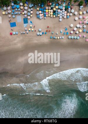 L'INDONÉSIE, Bali, Semenyak, vue aérienne de double-six beach Banque D'Images