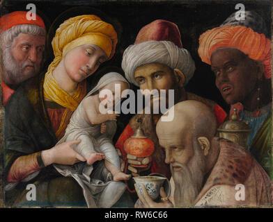 Adoration des Mages; Andrea Mantegna (Padoue), Italien (environ 1431 - 1506); Italie; environ 1495 - 1505; de carré sur un linge, 48,6 × 65,6 cm (19 1/8 × 2 Banque D'Images