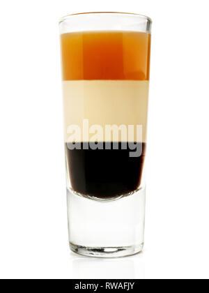 B52 Cocktail sur fond blanc