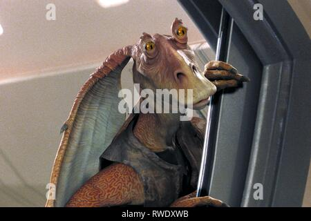 JAR JAR BINKS, Star Wars : Episode I - LA MENACE FANTÔME, 1999 Banque D'Images
