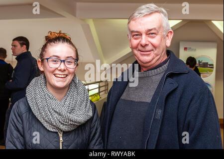 Clonakilty, West Cork, Irlande. 8 mars, 2019. Participation à la journée portes ouvertes du collège agricole Darrara étaient Rita et Donal Dineen de Carrigaline. Credit: Andy Gibson/Alamy Live News. Banque D'Images