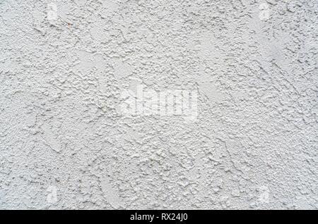 Close-up de stuc blanc mur. Banque D'Images