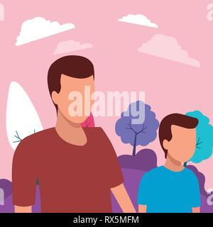 Père et fils sans visage