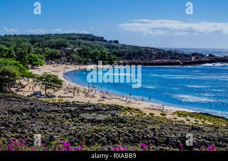 Une vue de l'île de Lanai Lanai beach dans la région de New York, USA Banque D'Images