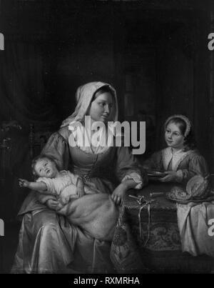 La mère et deux enfants avec toujours la vie. Adriaen de Lelie; Dutch, 1755-1820. Date: 1810. Dimensions: 14 x 11 1/4 à 15/16. (36,3 x 30,3 cm). Huile sur panneau. Origine: Pays-Bas. Musée: le Chicago Art Institute. Auteur: Adriaan de Lelie.