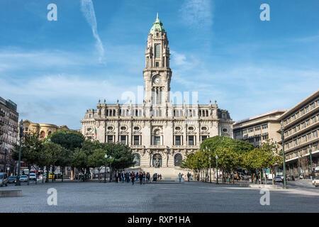 Hôtel de ville de Porto Portugal Banque D'Images
