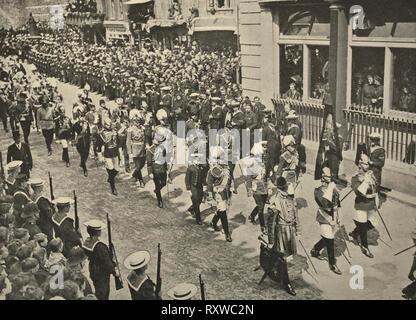 Les rois européens à la procession funéraire du roi Édouard VII - 1910 Banque D'Images