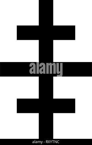 L'icône de l'église romaine papale Croix couleur noir style télévision illustration vectorielle simple image