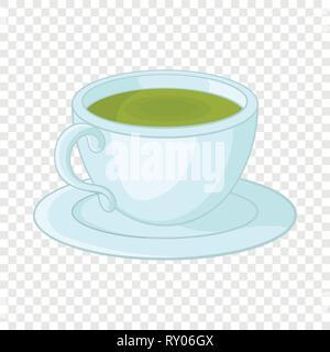 Une tasse de thé dans l'icône de style cartoon Banque D'Images