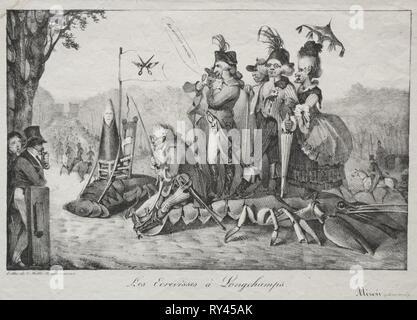 Publié dans le miroir le 4 avril 1822: l'écrevisse de Longchamps, 1822. Eugène Delacroix (Français, 1798-1863). Fiche technique: Lithographie; 26,4 x 35 cm (10 3/8 x 13 3/4 in.); image: 20,2 x 30,8 cm (7 15/16 x 12 1/8 in Banque D'Images