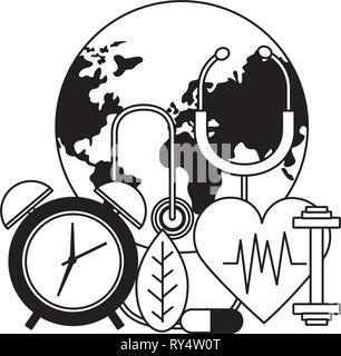 La journée mondiale de la santé Banque D'Images