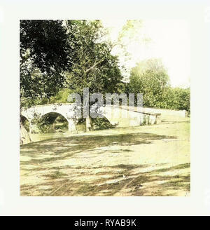 American Civil War: Burnside Bridge, Antietam, sept., 1862, vue partielle d'un pont de pierre sur Antietam Creek dans le Maryland. Photo, à l'albumine