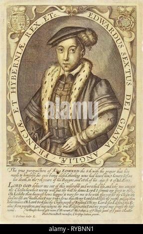 Portrait d'Édouard VI, Roi d'Angleterre, Simon van de passe, 1618 Banque D'Images