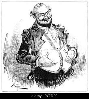 Vintage cartoon portrait d'un gentilhomme Banque D'Images