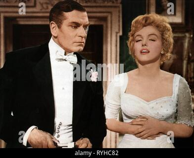 LAURENCE OLIVIER, MARILYN MONROE, THE PRINCE AND THE SHOWGIRL, 1957 Banque D'Images