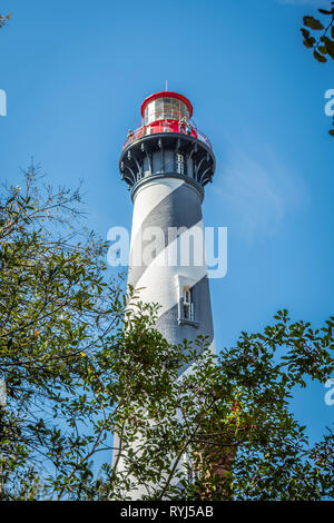 Le célèbre phare de St Augustine à St Augustine, Floride Banque D'Images