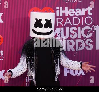 Los Angeles, Californie, USA. 14Th Mar, 2019. 2019 Marshmello assiste au iHeartRadio Music Awards qui diffusé en direct sur la FOX au Théâtre de Microsoft le 14 mars 2019 à Los Angeles, Californie. Credit: Tsuni / USA/Alamy Live News Banque D'Images