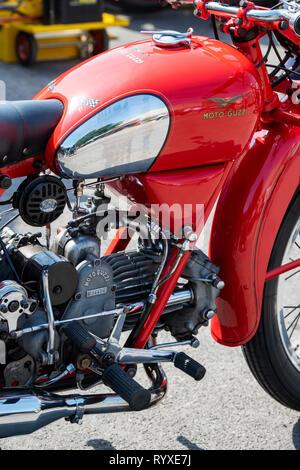 1950 Moto Guzzi Falcone. Vintage moto classique italien