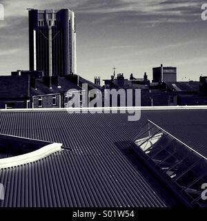 La mairie et la brasserie Thwaites Blackburn Banque D'Images