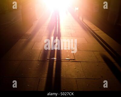 Coucher du soleil dans les rues de Londres Banque D'Images