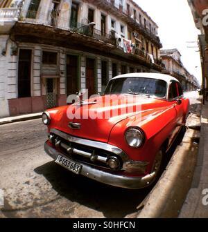 Vieille voiture à La Havane Cuba Banque D'Images
