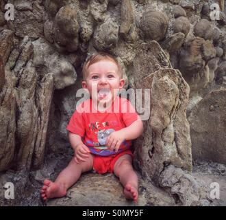 Bébé souriant Banque D'Images