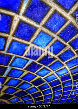 Carreaux de mosaïque bleue Banque D'Images