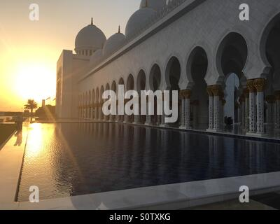 La Mosquée Sheikh Zayed, Abu Dhabi Banque D'Images