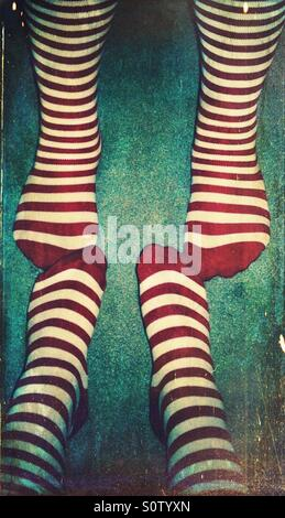 Chaussettes rayées Banque D'Images
