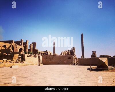 L'arrière du temple de Karnak, Louxor, Egypte Banque D'Images